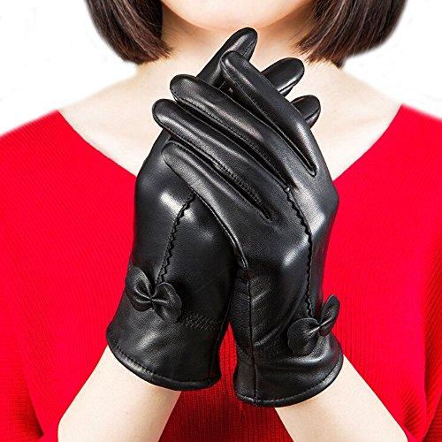 Fletion Mujer Ladies Luxury suave oveja guantes piel