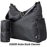 OiOi, Bolso maternal cambiador Hobo Black Chevron