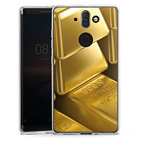 DeinDesign Nokia 8 Sirocco Silikon Hülle Case Schutzhülle Goldbarren Gold Barren