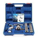 5–19mm Bördelgerät Kit, faway Flare Bördelgerät Werkzeug-Set Kältetechnik Exzenter Membran + Rohrabschneider W/Fall