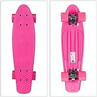 Relaxdays 10022264_52 Skateboard, Unisex niños, Rosa, Talla Única