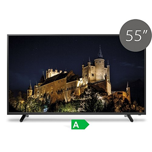 TV Full HD TDSystems 55' Pulgadas HD K55DLT6F (Resolución 1920x1080/HDMI 3/VGA 1/Eur 1/USB Reproductor y grabador) Televisor Full HD