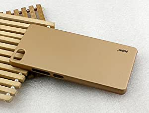 Pudini rubber paint back cover for Microsoft Lumia 430 - Gold