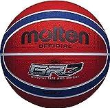 Onlysportsgear Molten BGR Serie farbig Innen-/Outdoor rot/blau 12 Panel Nylon Basketball NEU - rot/blau, Size 6