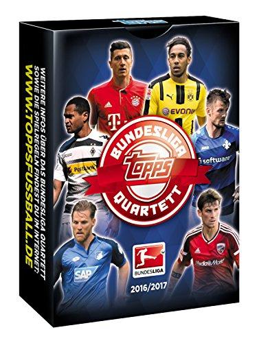 Topps BLQT-17DE1 Quartett Bundesliga 2016/2017 Kartenspiel, 36 Karten