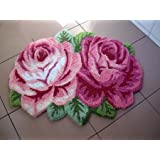 outgeek área alfombra Rose Forma hecha a mano alfombra antideslizante alfombra de área de cocina