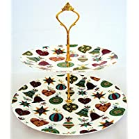 È Natale supporto per dolci a 2piani, Porcellana, Design Cake
