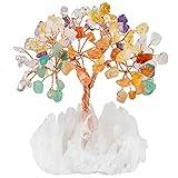 mookaitedecor Mehrfarbiger Kristall Baum mit Bergkristall als Basis und bewickeln mit Kupferdraht,...
