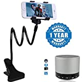 #10: Captcha ZUK Z2 Pro Compatible Certified Flexible Mobile Holder With Snake Style Stand with Mini Bluetooth Wireless Speaker S10 With FM & Micro SD Card (1 Year Warranty)