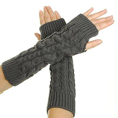 Richoose Armstulpen Damen Fingerlose Langer Handschuh Winter Warmer Strick handschuhe Fäustlinge Fausthandschuhe