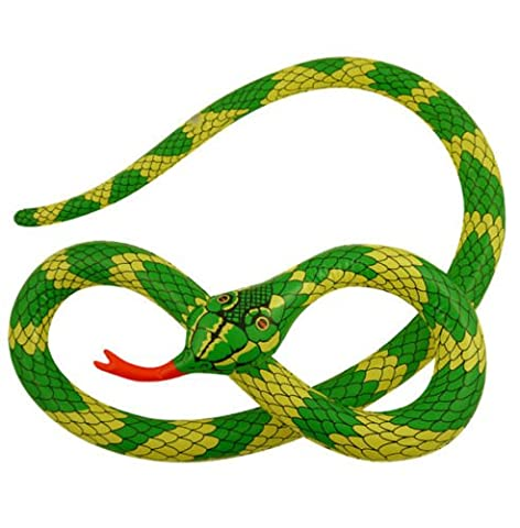 HUGE 230cm Inflatable Blow Up Green Snake Hawaiian Beach Jungle Party - A great addition to any jungle or Hawaiian themed party or fancy dress costume.
