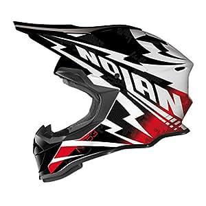 Nolan N53 Comp MX-Helm, Farbe schwarz-weiss-rot, Größe XS (53/54)