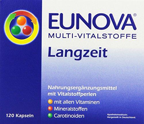 Eunova Multi-Vitalstoffe Langzeit 120 Kapseln, 1er Pack (1 x 86 g) - Multi Vitamin-120 Kapseln