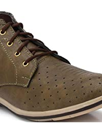 DTRENDZ Synthetic Leather Casual High Ankle Boots Shoes With TPR Sole For Men & Boys.