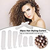 Lockenwickler - Anself DIY Silikon Haar Curler Rollen Spiral Curls Curlformers Styling Kit, Morgan Hot Curling Friseur Friseurwerkzeuge Friseursalon Morgan Hot Clip (30 St¨¹ck)