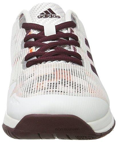 adidas Stabil Boost 20y W, Scarpe da Pallamano Donna Bianco (Ftw White/maroon/energy)