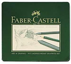 Faber-Castell 112965 - PITT Graphite Set, 18er Metalletui
