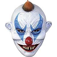 Fieser Clown Horror Maske aus Latex - Erwachsenen Horror Kostüm Vollmaske - ideal für Halloween, Karneval, Motto…