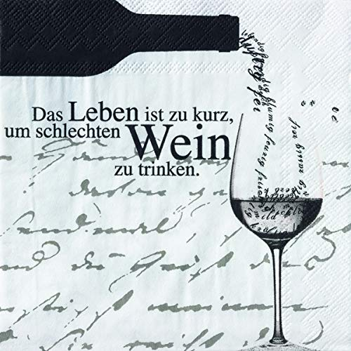 Räder Weinservietten Das Leben ist zu kurz.