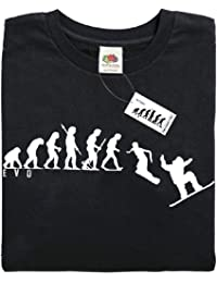 Mans Evolution T-Shirt® EVO Mens Ape to Snowboard brand new original gift present