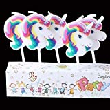 Party Propz Unicorn Theme 5Pcs Candles for Unicorn Birthday Party Supplies Or Cake Decorations