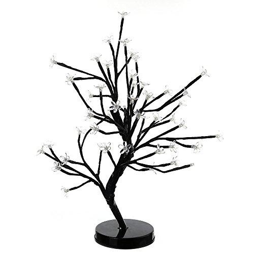 Weihnachten Innendekoration 48 Pflaume Blumentopf Baum Lampe Batterie Box Urlaub Partei Im Freien Nacht LED Licht Dekoration Licht Zeichenfolge,Warmwhite,OneSize