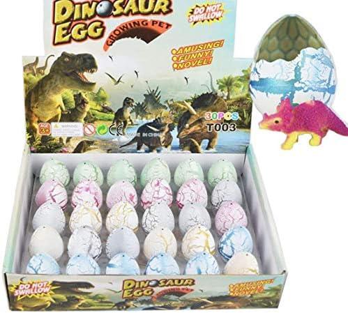 Yeelan Dinosaur Dinosaur Dinosaur Eggs Toy Éclosion Growing Dino dragon pour les enfants Grand Pack Taille de 30 pcs, Crack blanc | Vente  d5a614