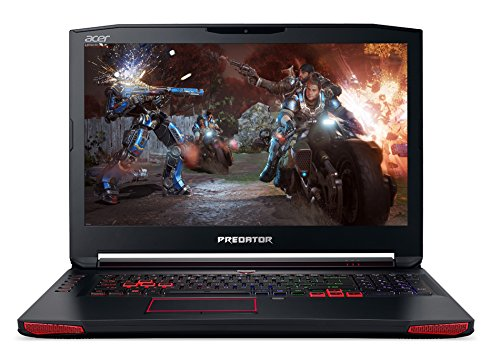 Acer Predator 17 G9-793-718K 43,9 cm (17,3 Zoll Full-HD IPS matt) Gaming Notebook (Intel Core i7-7700HQ, 16GB RAM, 256GB PCIe SSD, 1000GB HDD, NVIDIA GeForce GTX 1070, 8GB GDDR5 VRAM, Win 10) schwarz/rot