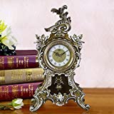 Relddd Kaminuhr Kaminuhren,Wohnzimmer kreative Uhr stumm Uhr Dekoration 49 * 35cm