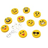 Elfen und Zwerge 25 x Radiergummis Mitgebsel Gelbe Emojis Schulbedarf verschiedene Gesichter Emotionen
