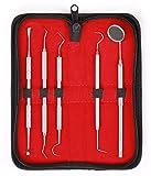 5er Dental Set Zahnreinigung Sonde Zahnpflege Edelstahl Instrument Zahnkratzer hochwertige Profiqualität von MedTekCo lebenslange Garantie -