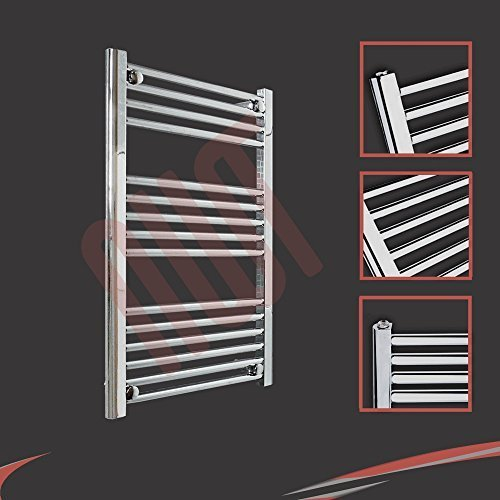 600mm (w) x 1000mm (h) - Radiateur sèche-serviettes plat chromé Barre Horizontale Diamètre: 22mm, Bar Modèle: 3 + 4 + 4 + 8
