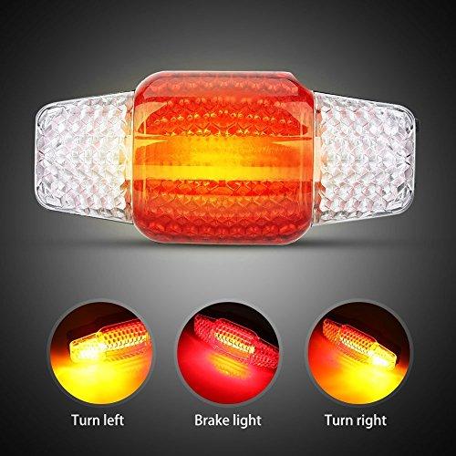 Fahrrad Bremslicht Bremsleuchte Wiederaufladbare COB LED Fahrrad Rücklicht