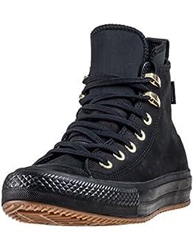 Scarpe alte Converse in pelle con lacci Ct As Wp Boot hi nero