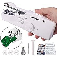 Mini Máquina de Coser Portátil de AOWEIKA, Herramienta Manual Portátil Herramienta de Puntada Rápida para Tela, Ropa o Tela de Niños