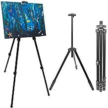 Caballete para pintores de eyepower | Trípode de aluminio para sujetar exponer pintar cuadros | Armazón de tres pies para sostener lienzos ajustable en altura desde 57 cm a 180 cm | incl bolsa de transporte