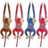 Welltobuy Mono Colgante de Juguete Suave Fad Brazo Largo Mono de Peluche Juguetes para bebés Animales de Peluche Muñeca Suave Juguete para niños