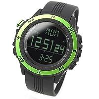 [LAD WEATHER] Sensor alemán Altímetro Barómetro Brújula digital Pronóstico del tiempo Hombre Reloj de pulsera Retroiluminación Alarma Calendario de LAD WEATHER