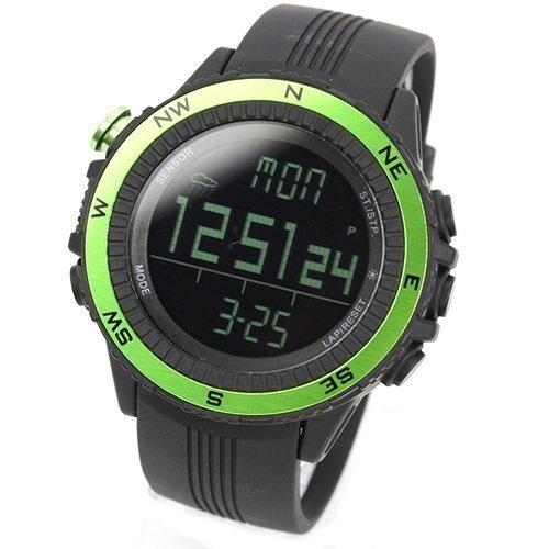 Gut Lad Grün ([LAD WEATHER] Deutscher Sensor Digitaler Kompass Höhenmesser Barometer Chronograph Wettervorhersage Outdoor Sportuhr Bergsteigen Laufen Herren Armbanduhr)