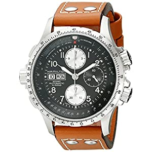Hamilton H77616533 – Reloj cronógrafo para Hombre, Color Caqui, Esfera Color Negro
