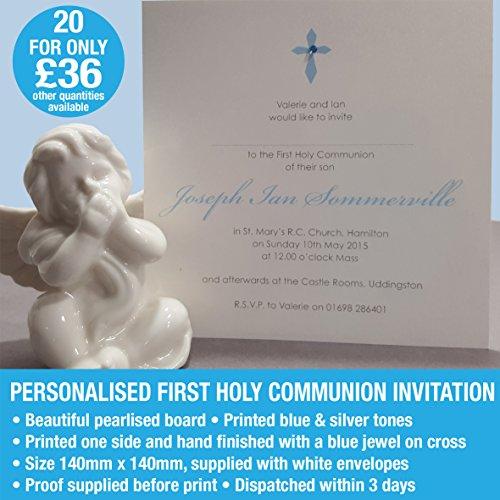 Erstkommunion Einladung Karten personalisierbar 20Pearl Board junge