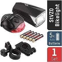 ANSMANN LiteRider StVZO Fahrradlicht LED Beleuchtungsset Mit Frontlicht U0026  Rücklicht   Fahrradlampe Batteriebetrieben   Zugelassen U0026