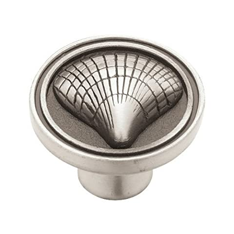 Liberty PBF658-BSP-C 35mm Cockle Shell Kitchen Cabinet Hardware Knob, Brushed Satin Pewter by (Brushed Pewter Knob)