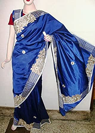 Madhumita'S Boutique Silk Saree (Mb-110_Blue)