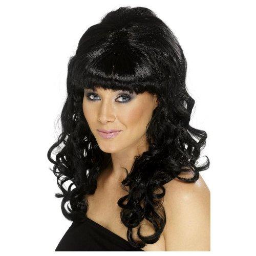 Schwarze Damenperücke Hochsteckfrisur Perücke Schwarz (Kostüm Hochsteckfrisur Perücken)
