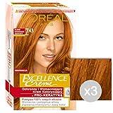 Set 3 EXCELLENCE Gold 07H43 Cuivre Couleur Blonde Et La Couleur Des Cheveux