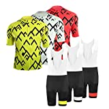 Uglyfrog Abbigliamento Ciclismo Uomo Asciugatura Veloce Maglia Manica +Bib Pantaloncini Abbigliamento da Ciclismo Abbigliamento Sportivo da Equitazione