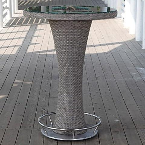 Hartman Montego Bartisch Tisch rund aus Polyrattan/Glas taupe ø 95 cm 72267033