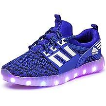 official photos 637fe 55d31 GJRRX LED Zapatos Primavera-Verano-Otoño Transpirable Zapatillas LED 7  Colores Recargables Luz Zapatos