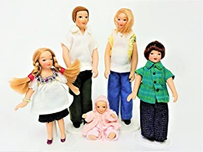 Melody Jane Dolls House Modern Summer Family Miniature Porcelain People Figures